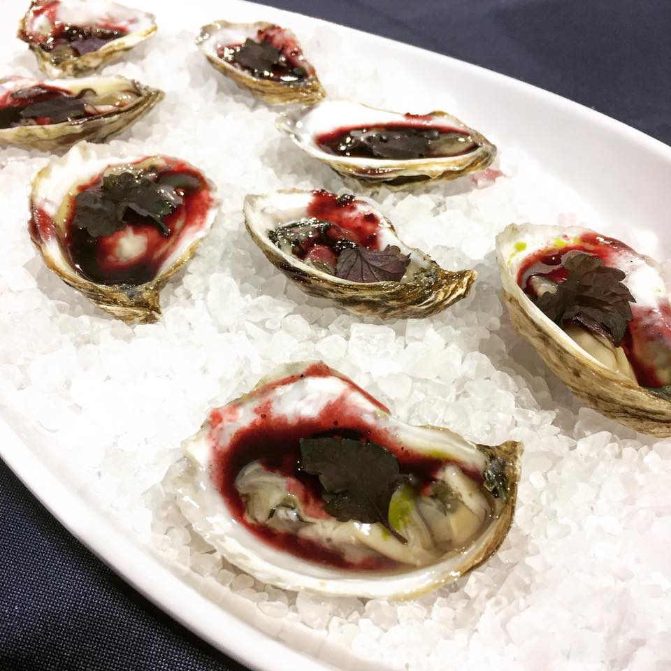 Oysters and Hibiscus Mignonette from Brian Lea at Le Sel Nashville