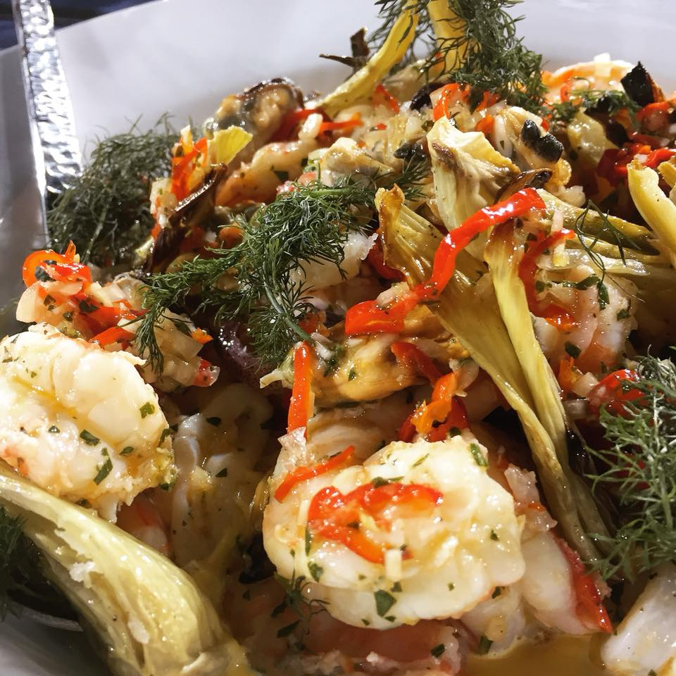 Seafood Salad, Rouille, Fennel, Lemon, Chili from Julia Sullivan at Henrietta Red Nashville