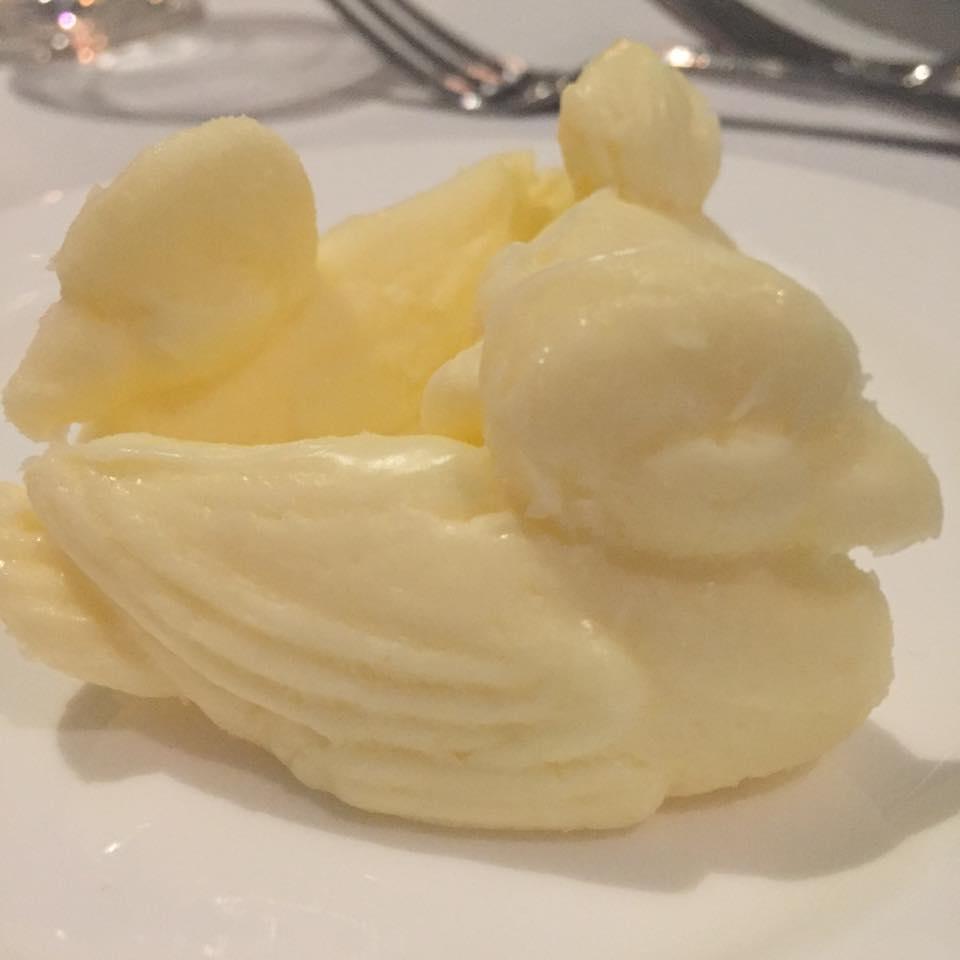 Butter in the shape of ducks