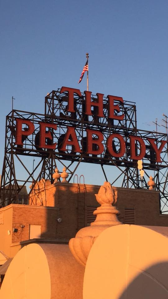 The Peabody Hotel Memphis rooftop sign