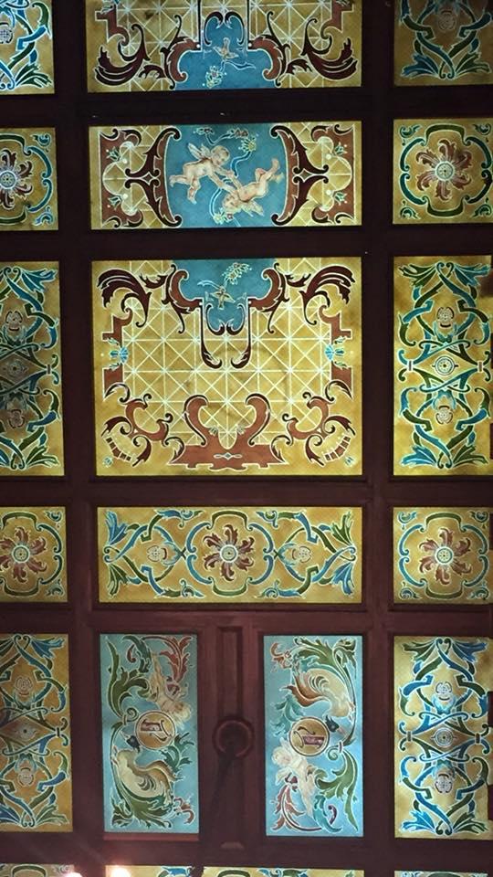 The Peabody Hotel Memphs Lobby ceiling
