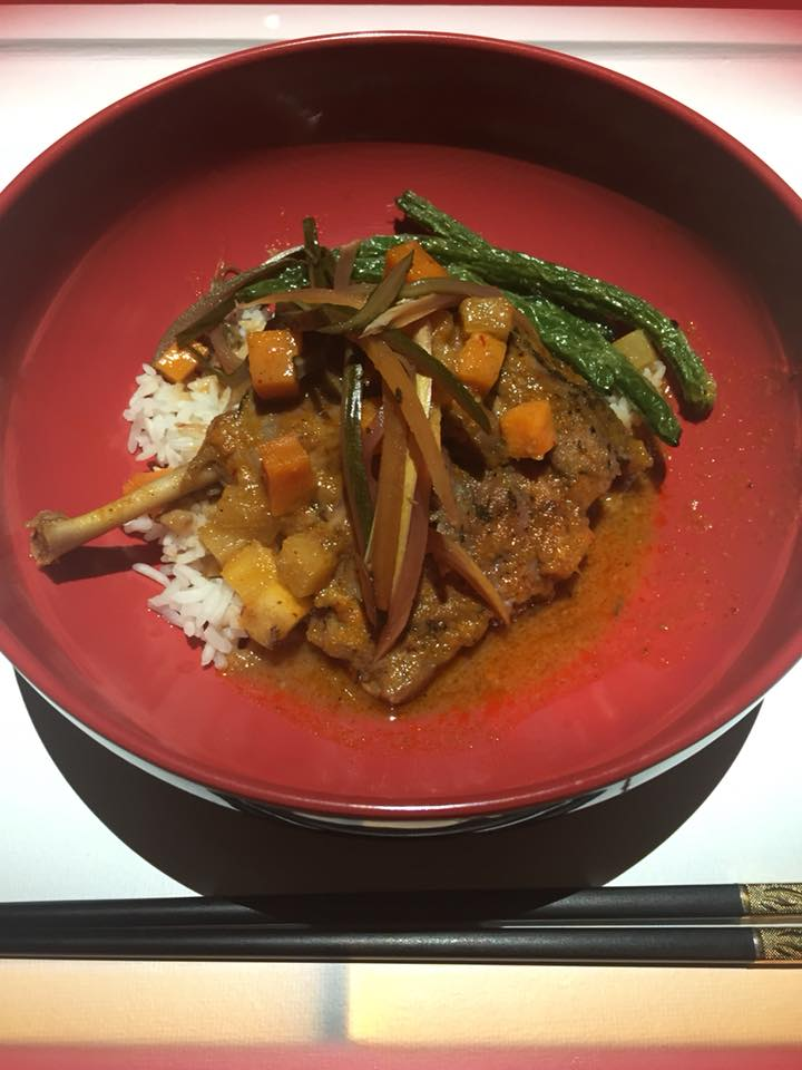 Duck Confit with Red Curry