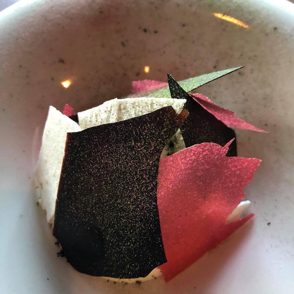 Rhubarb Rhubarb - Tarragon / white cholocate mousse / black lime