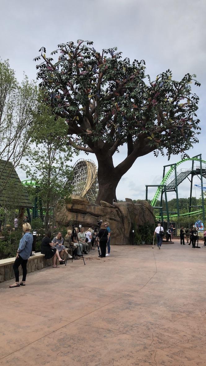 Wildwood Grove's centerpiece is the 50 foot Wildwood Tree