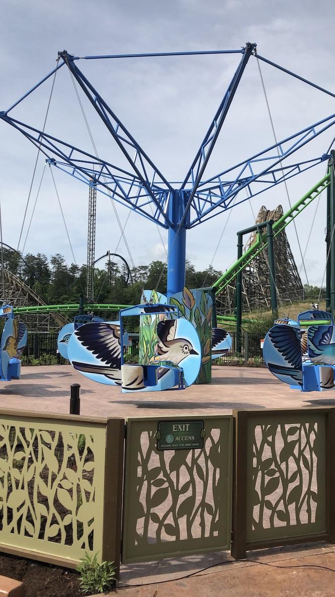 The Mad Mockingbird ride at Dollywood Wildwood Grove