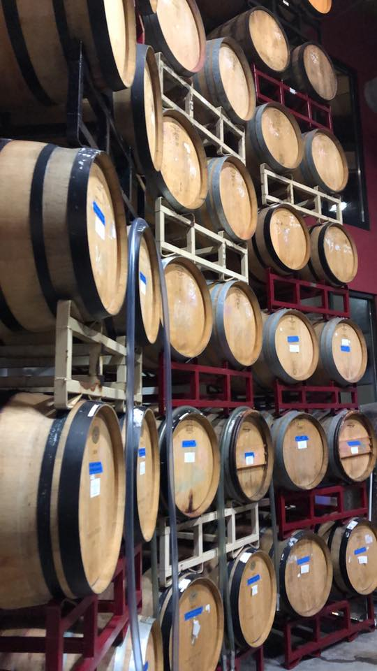 wine barrels at City Winery Nashville