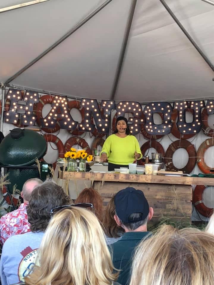 Aarti Sequeira cooking demo