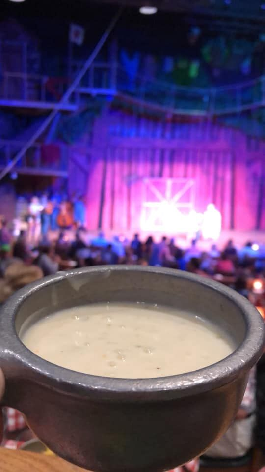 cup of creamy soup