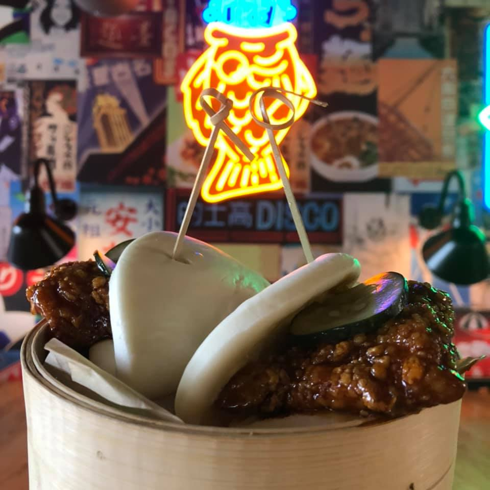 Hot Chicken Steamed Baos at Hawkers in East Nashville