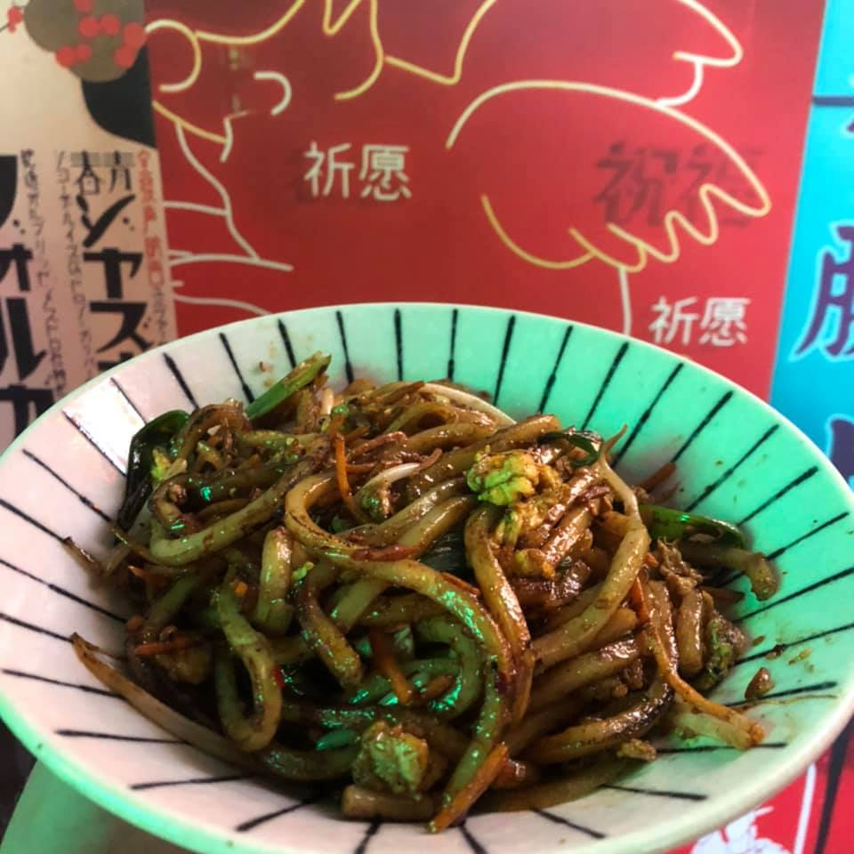 Yaki Udon at Hawkers in East Nashville