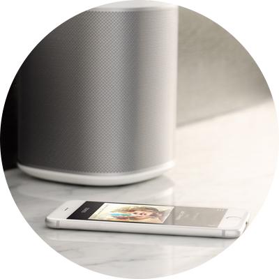 Sonos Speaker and iPhone