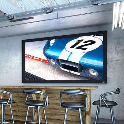 Commercial TV and Projector
