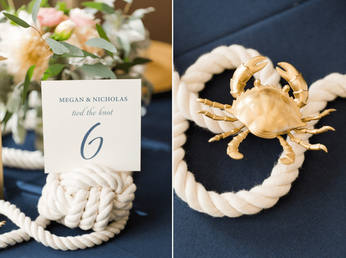 knotted wedding centerpieces and table numbers wedding