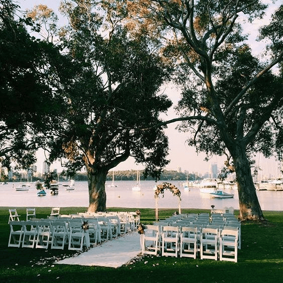 Harbor Wedding Ceramony
