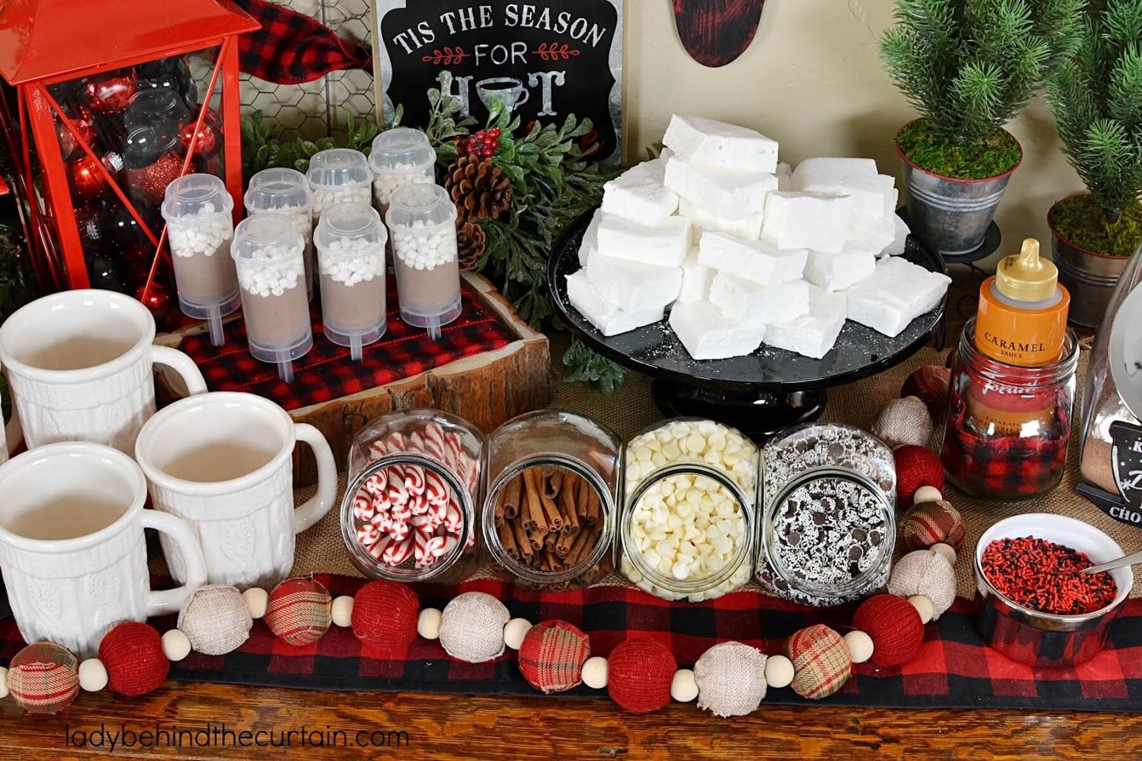 christmas party hot cocoa bar