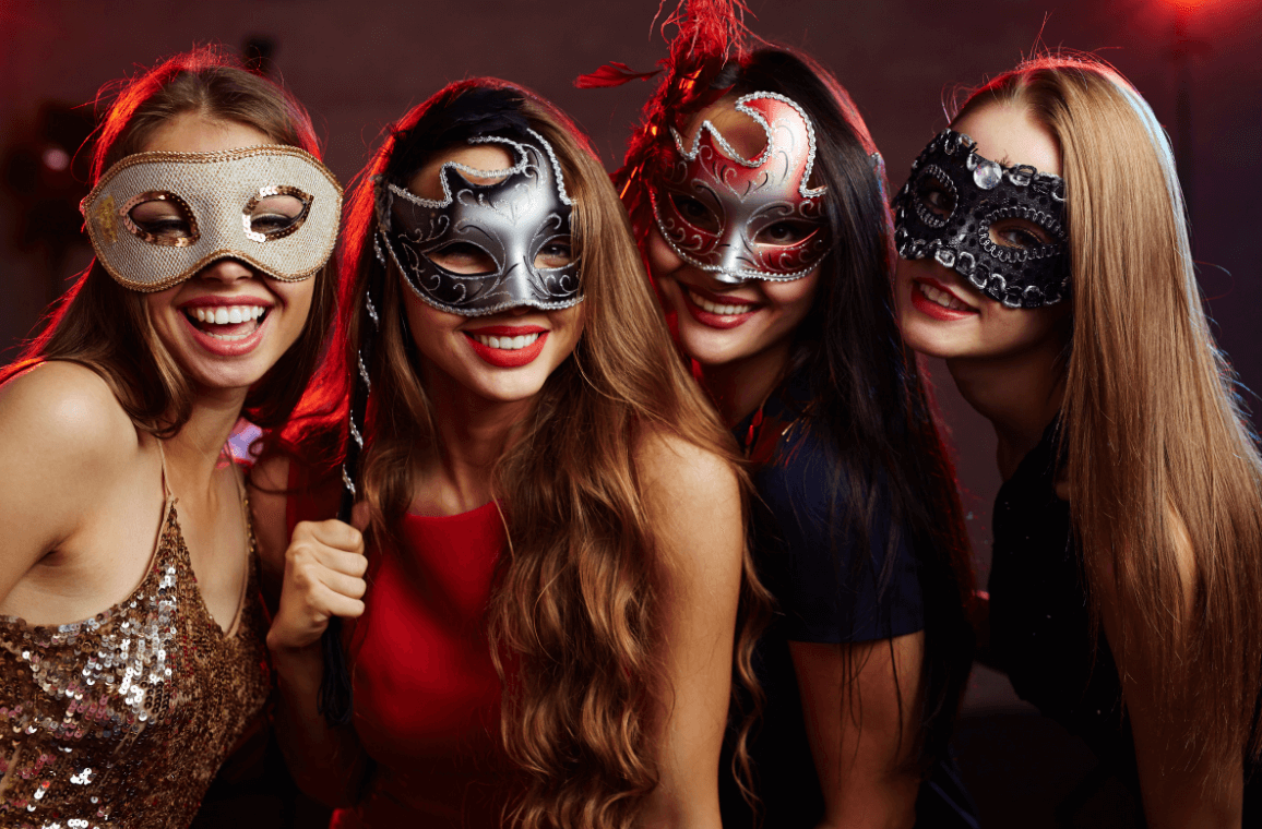 New year's eve murder mystery masks