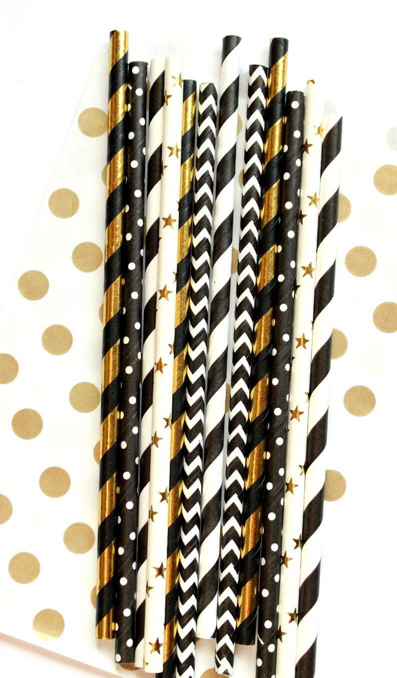New year's eve straws