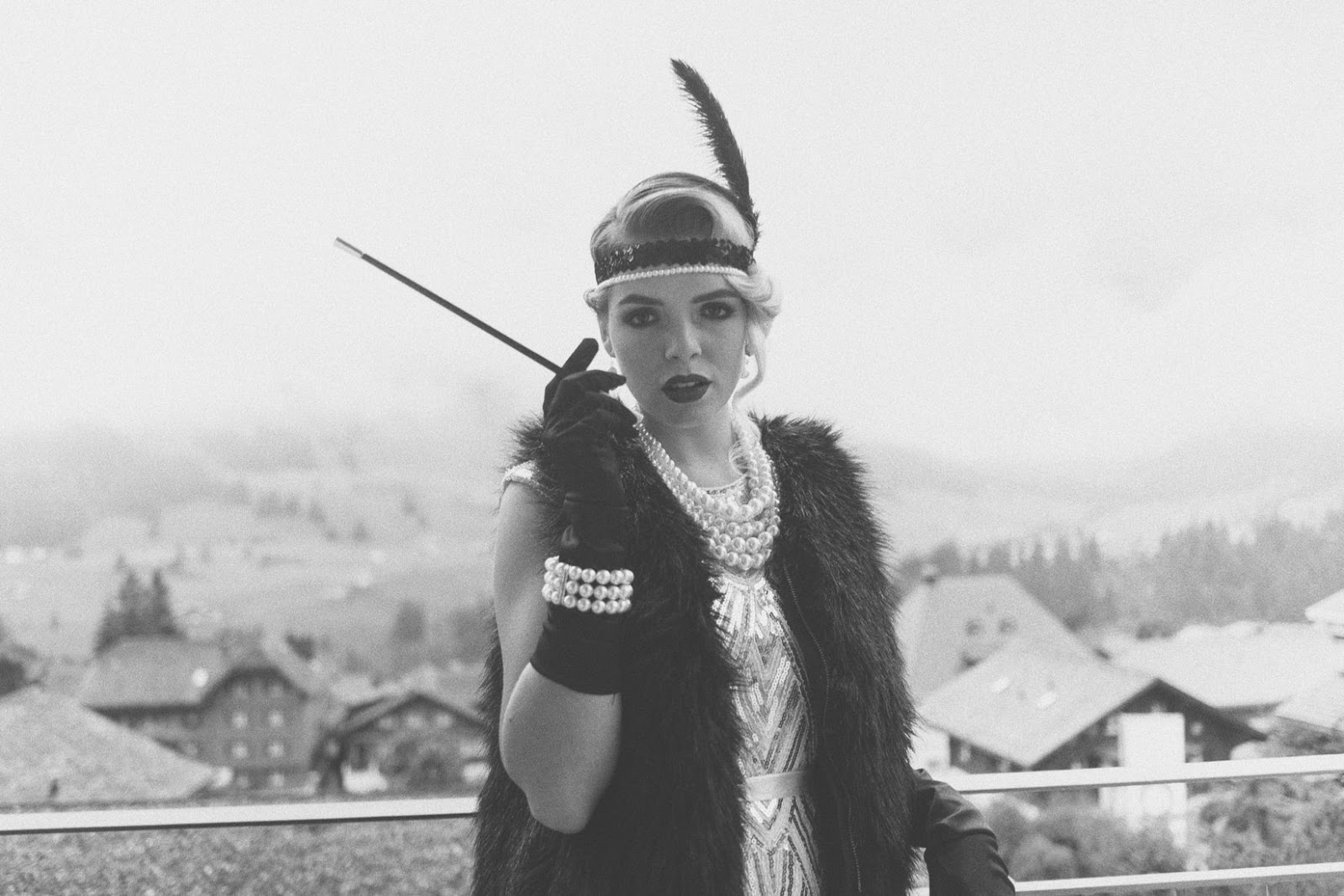 woman in flapper outfit
