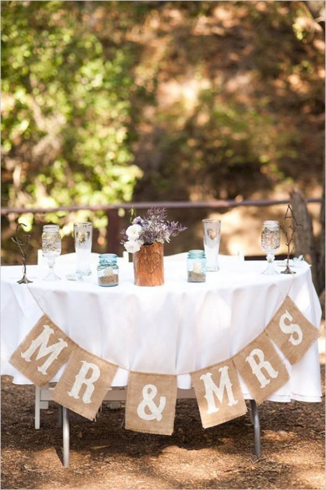 Mason Jar Decor BBQ Wedding Maryland