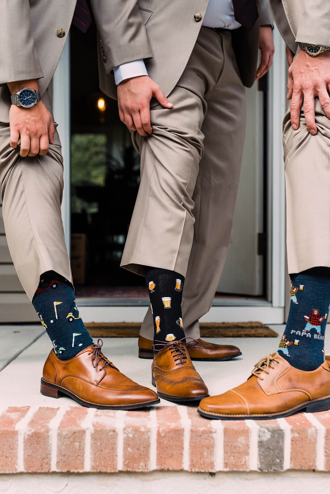 fun socks wedding