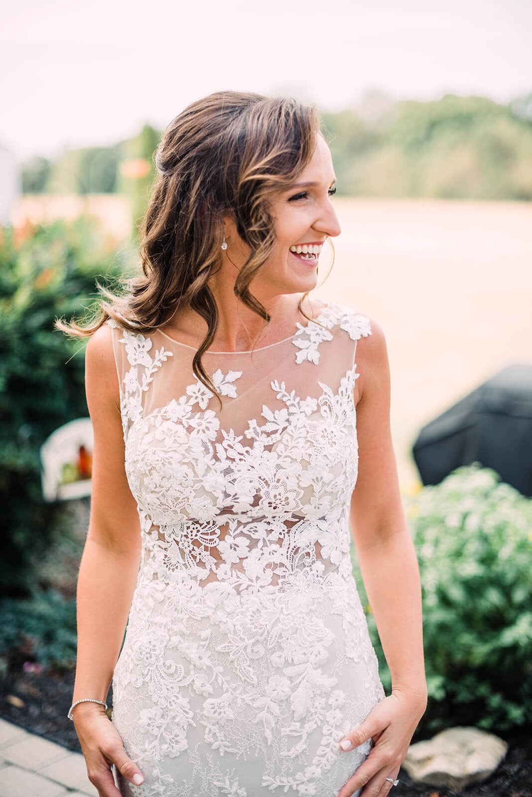 Lace gown bride