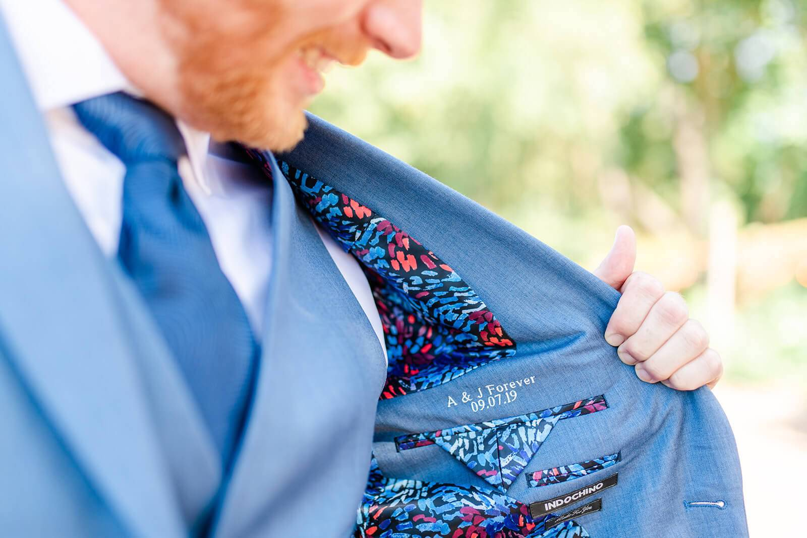 groom's suit with embroidery