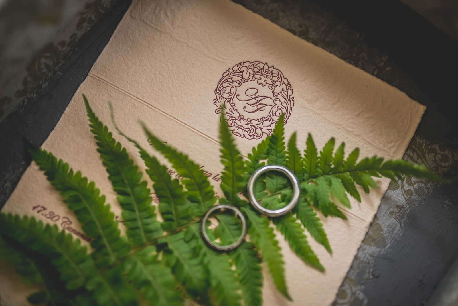 wedding rings on stationary