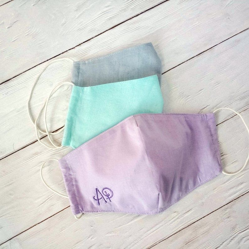 monogrammed face masks