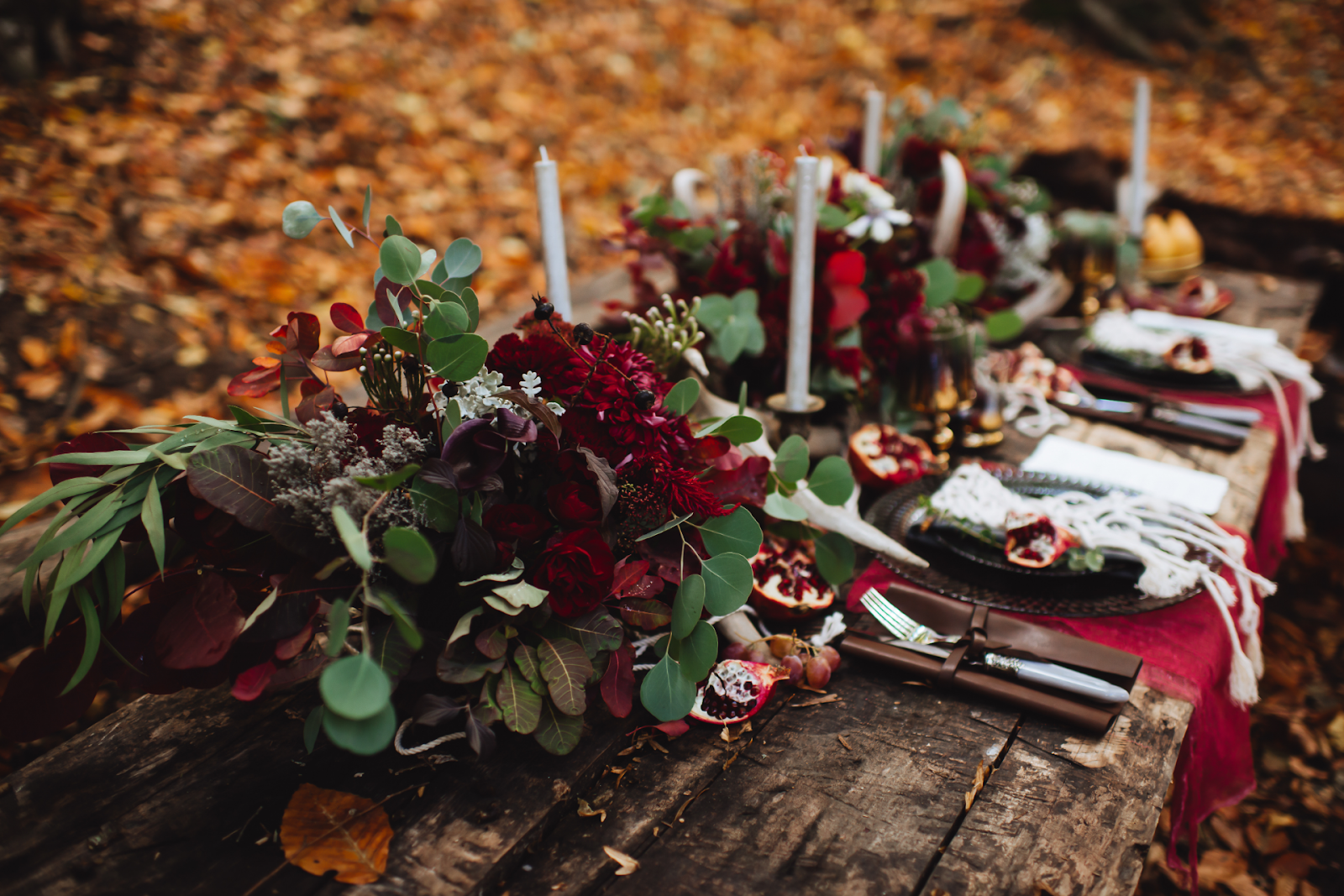 fall wedding dining table