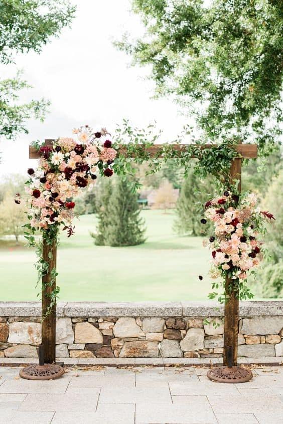 photo via hearthandmade.co.uk. Ceremonial wedding arch