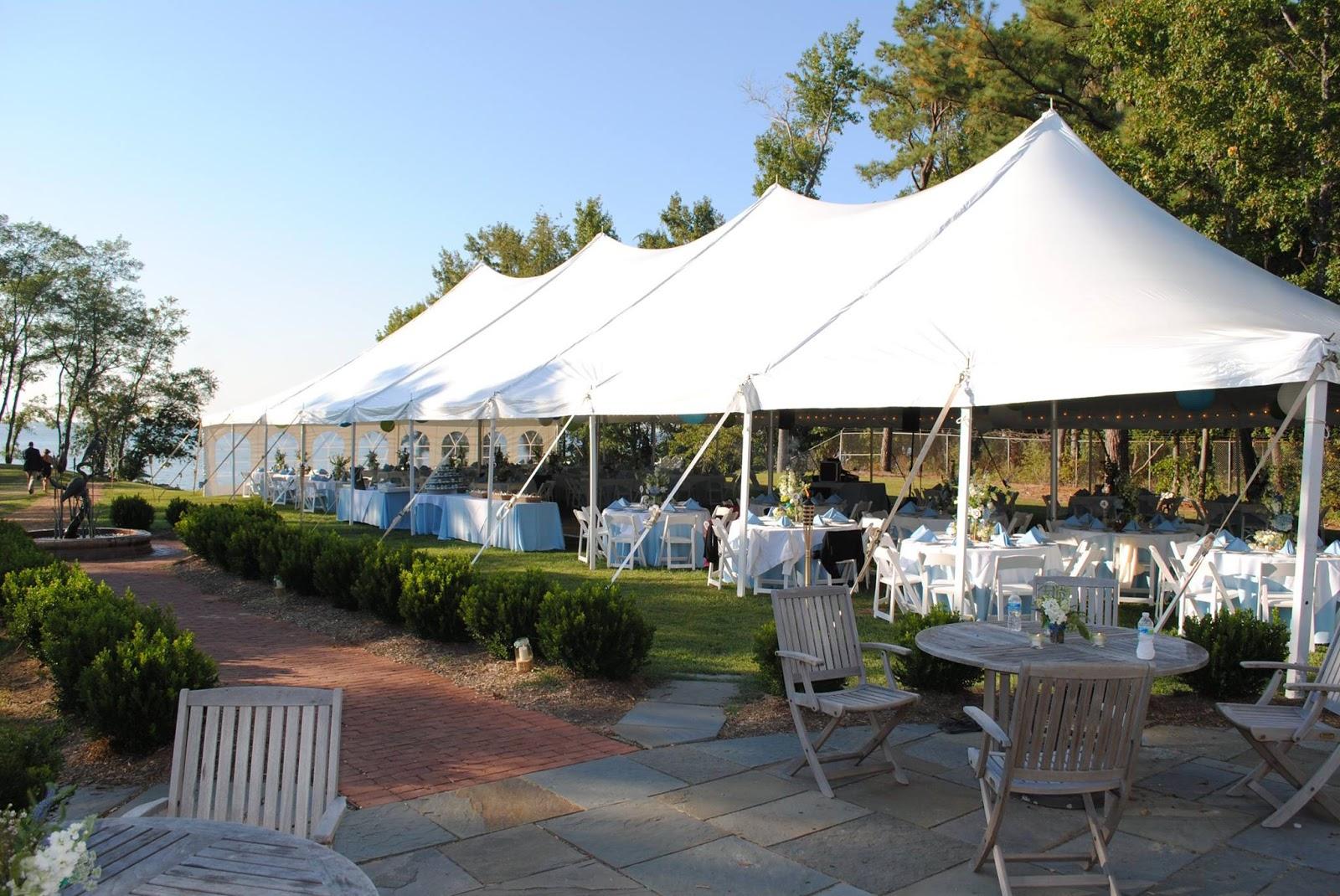 tented wedding at Matapeake Beach. Photo via MatapeakeCatering.com