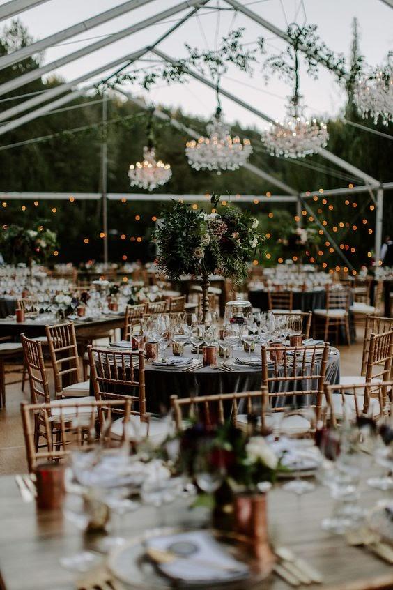 Romantic tent wedding. Photo via confettidaydream.com