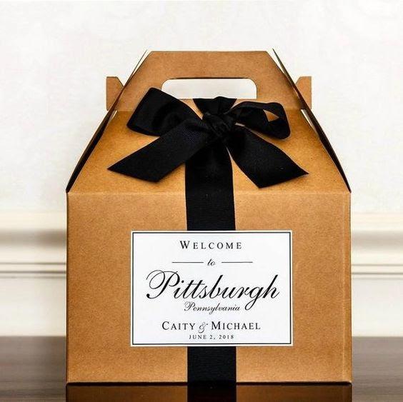 Welcome wedding box. Photo via etsy.com