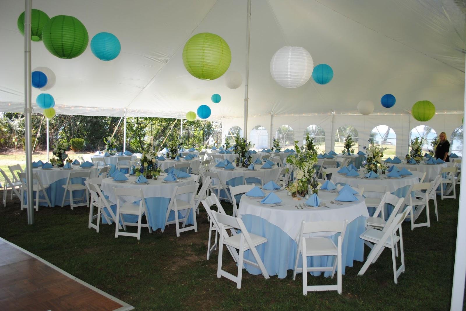 tented wedding decor at Matapeake Beach. photo via matapeakecatering.com