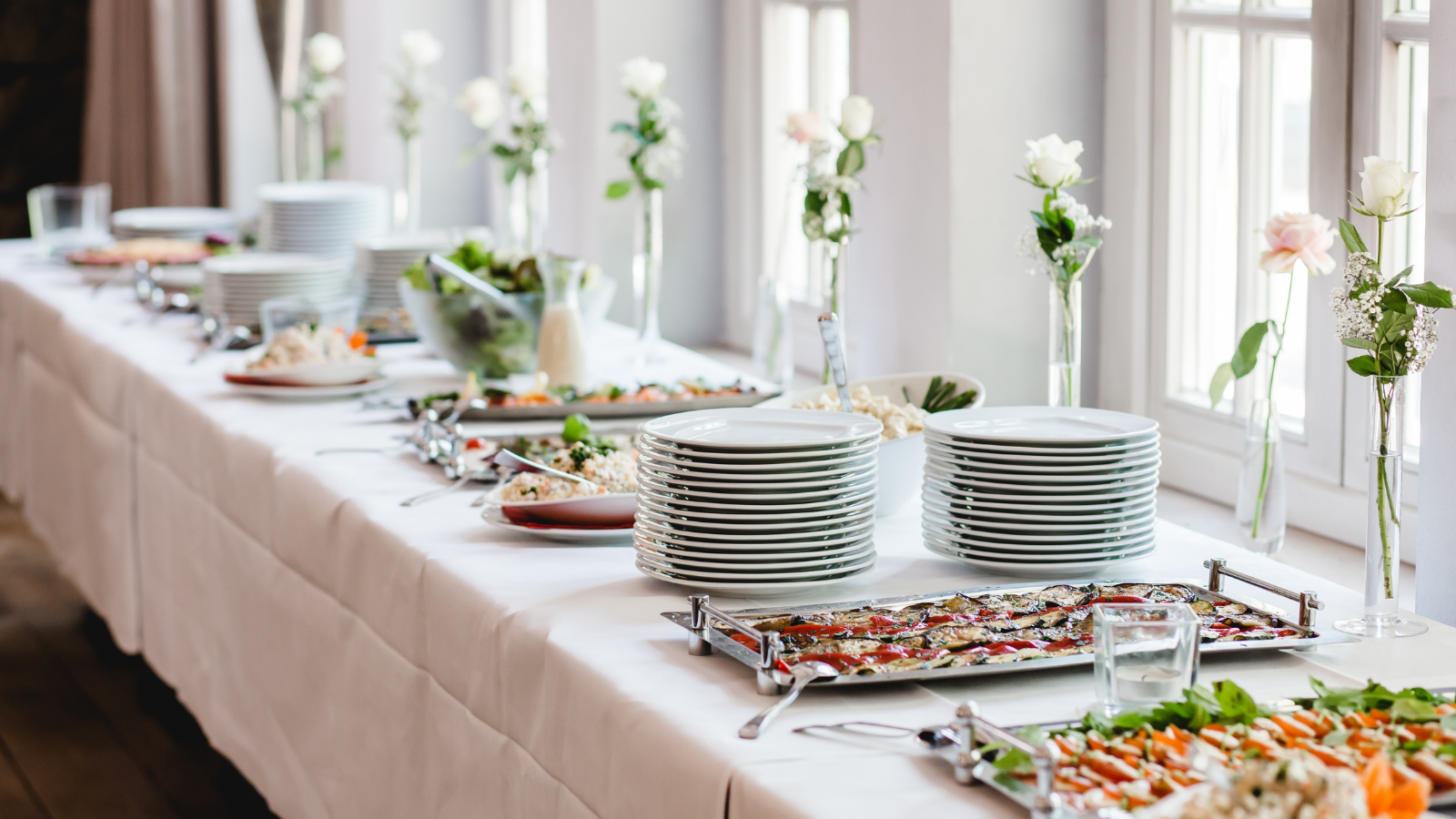 buffet style catering at wedding