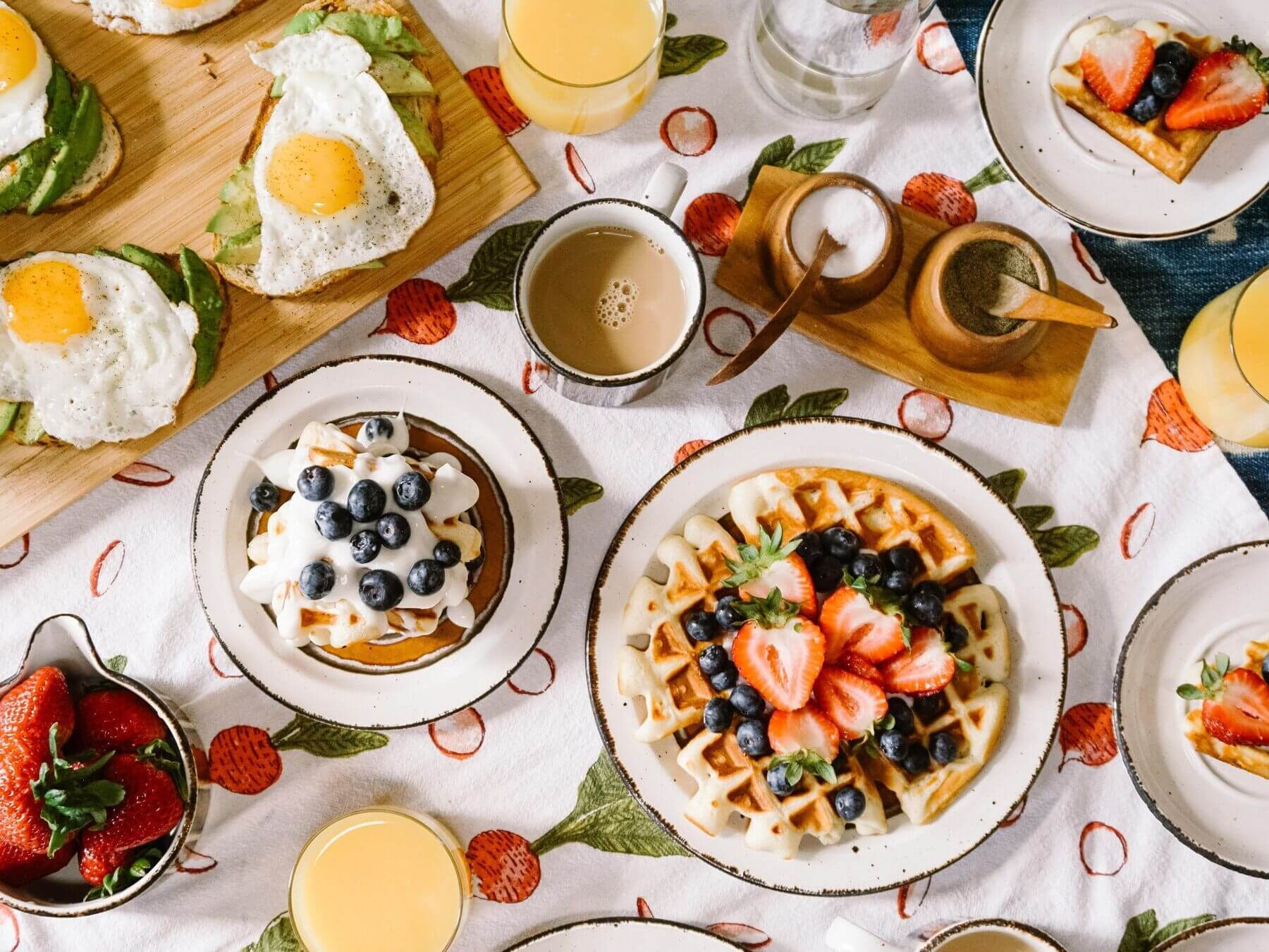 brunch foods on a table