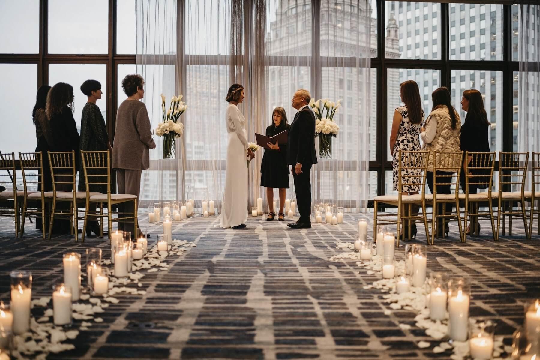 indoor minimony ceremony