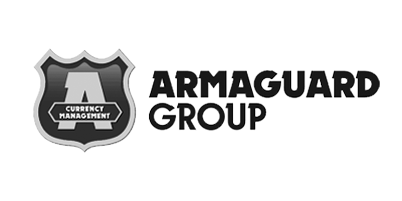 greyscale Armaguard Group logo