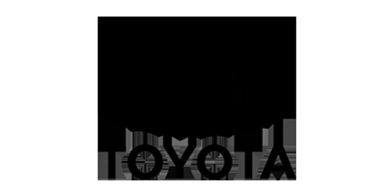 greyscale Toyota logo