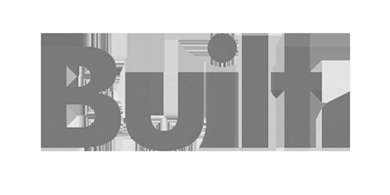 greyscale Built logo