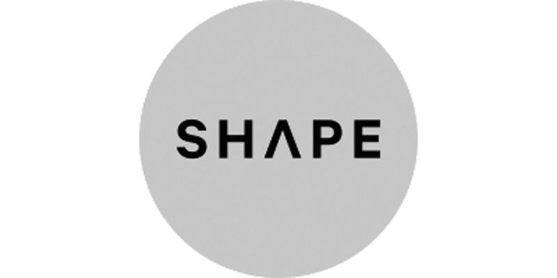 greyscale Shape logo