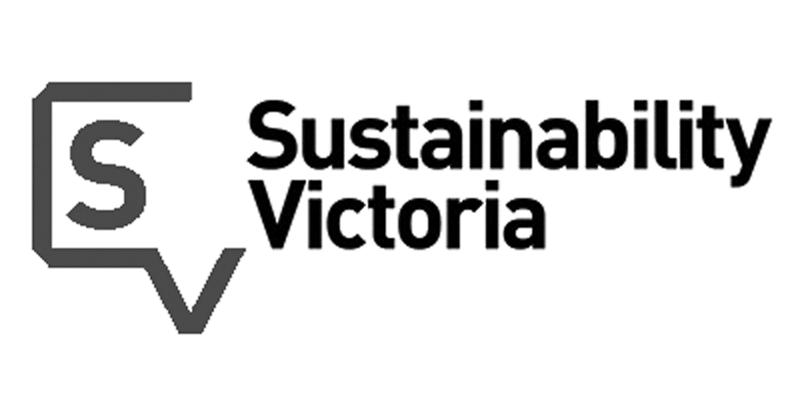 greyscale Sustainability Victoria logo