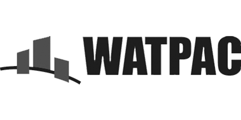greyscale Watpac logo