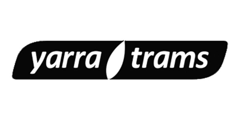 greyscale Yarra trams logo