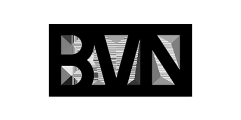 greyscale BVN logo