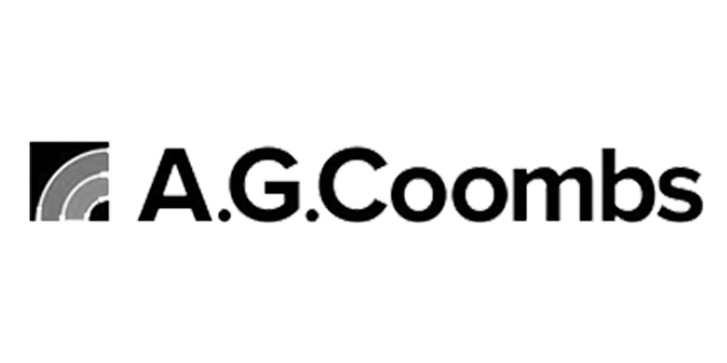greyscale A.G.Coombs logo