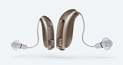 Sample Over the Ear hearing aid styles.
