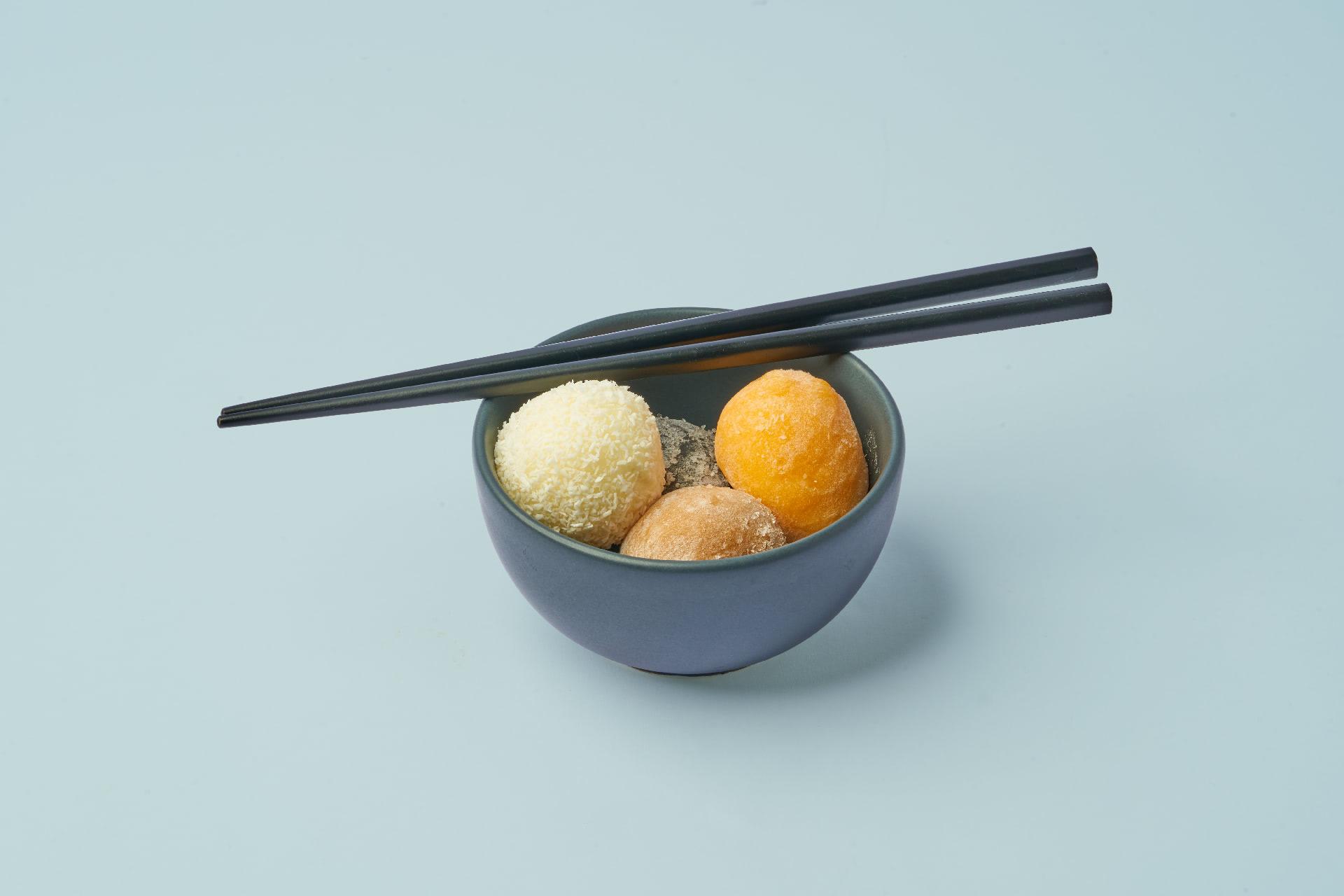 bowl of mochi