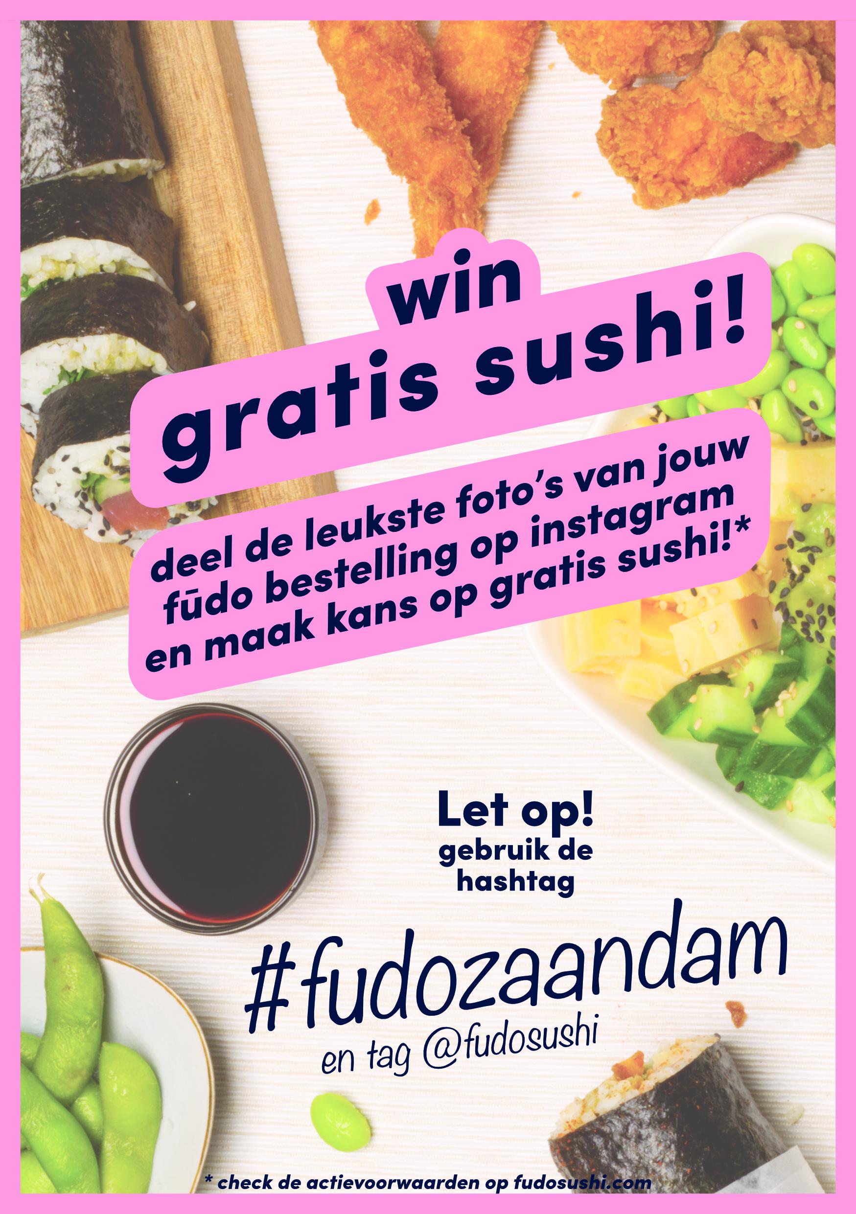 deel je foto, win gratis sushi!
