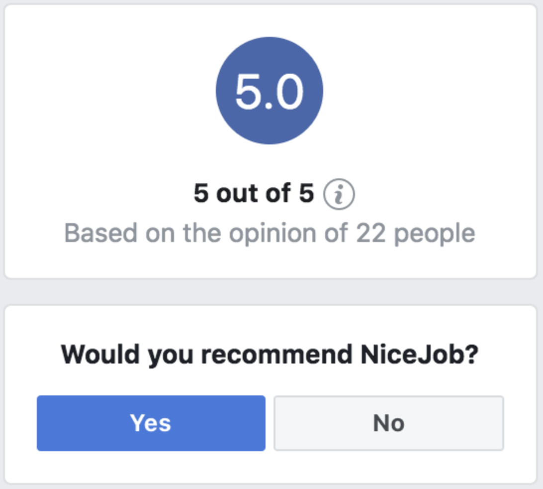 Facebooks new recommendation question